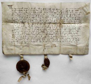 Poppo Graf von Henneberg Pergament Urkunde Mittelalter Siegel