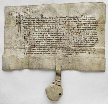 Ostpreussen Weissensee Urkunde Mittelalter Pergament Siegel