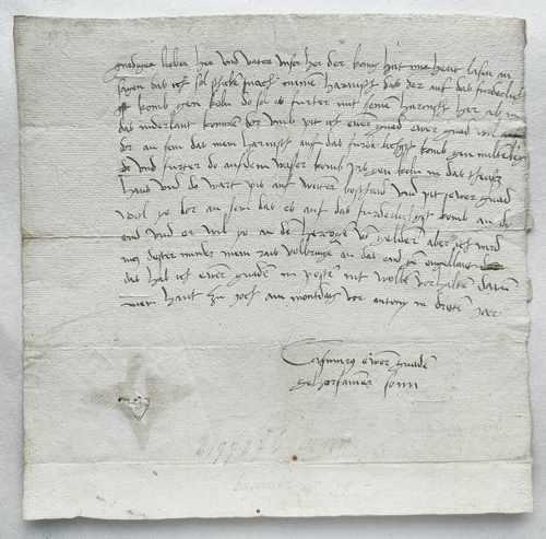 Kasimir von Brandenburg Kulmbach Harnisch Brief Autograph 1503