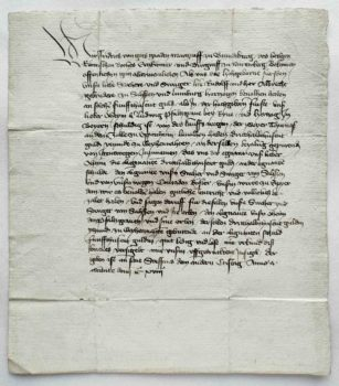 Friedrich Markgraf Kurfürst zu Brandenburg Burggraf zu Nürnberg Hohenzollern Preussen Mittelalter Urkunde Quittung Kanzleischreiben