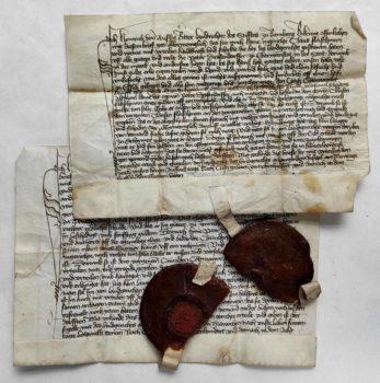 Herzogenaurach Mittelalter Pergament Urkunden Wachssiegel Archiv Mittelmesse Frühmesse Überlieferung Bamberg