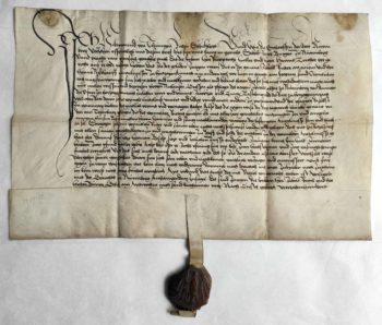 Herzogenaurach Mittelalter Pergament Urkunden Wachssiegel Archiv Mittelmesse Frühmesse Überlieferung Hilprand von Thüngen