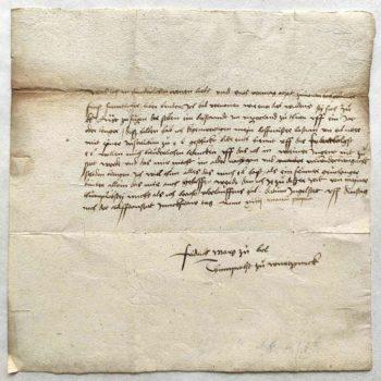 Friedrich von Brandenburg-Ansbach Autograph Brief