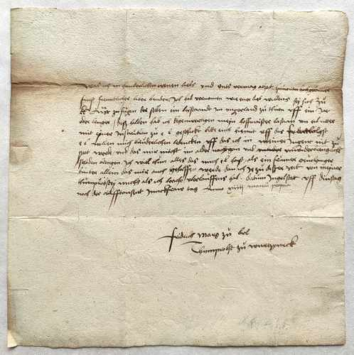 Friedrich von Brandenburg-Ansbach Autograph Brief 1514