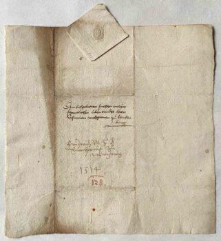 Friedrich von Brandenburg-Ansbach Autograph Brief verso