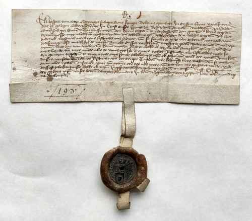 Jasper von Uetze Urkunde Pergamenturkunde Siegel Wachssiegel Lehnsbrief Lehnswesen Mittelalter niederdeutsch
