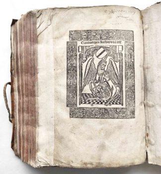 Ludolphus de Saxonia Vita Christi niederländisch Antwerpen 1503 Holzschnitt Postinkunabel Druckermarke