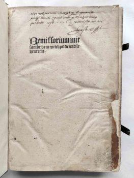 Eike von Repgow Sachsenspiegel Lehensrecht Postinkunabel 1508 Titel
