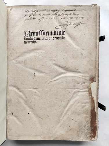 Eike von Repgow Sachsenspiegel Lehensrecht Postinkunabel 1508