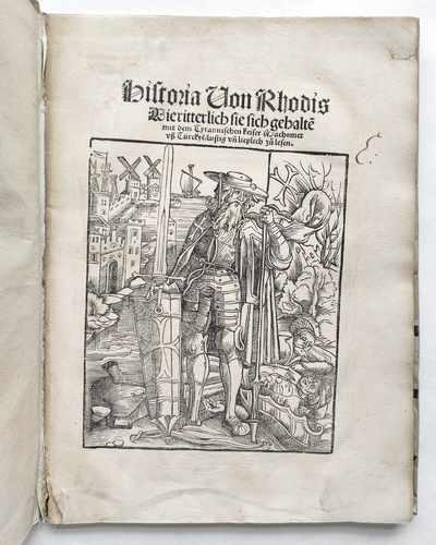 Caoursin Guillaume Rhodos Johanniter Türken Mittelalter Postinkunabel
