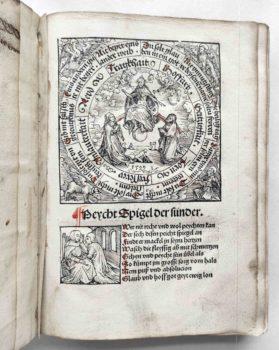 Beichtspiegel Mittelalter Postinkunabel Nürnberg 1510 Titel
