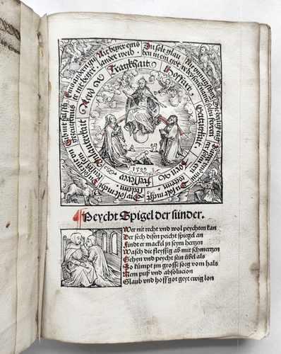 Beichtspiegel Sünder Mittelalter Postinkunabel Nürnberg Stuchs 1510