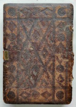 Beichtspiegel Mittelalter Postinkunabel Nürnberg Stuchs 1510 Einband Rückseite