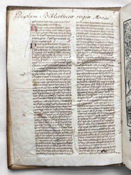 Dionysius Areopagita Opera Strassburg Postinkunabel Manuskript Pergament Fragment