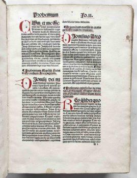 Dionysius Areopagita Opera Strassburg Postinkunabel eingemalte Initialen