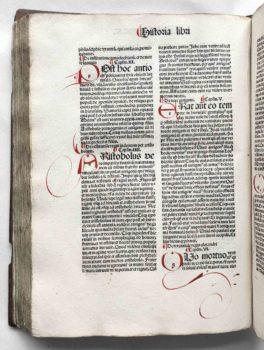 Petrus Comestor historia Scholastica Strassburg 1503 Initialen
