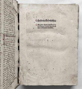 Petrus Comestor Historia Scholastica Straßburg 1503 Postinkunabel Titel