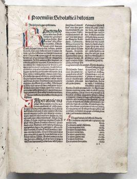 Petrus Comestor Historia Scholastica Strassburg 1503 Vorrede Initiale Federwerk