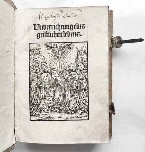 Geistliches Leben Klosterleben Mittelalter Laurentius Justinianus Bonaventura Postinkunabel Titel Holzschnitt