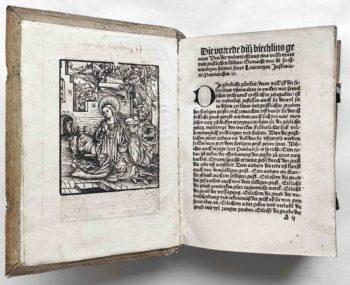 Geistliches Leben Klosterleben Mittelalter Laurentius Justinianus Bonaventura Postinkunabel Holzschnitt Maria