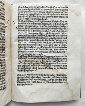Johann Haselberg Reichstag Augsburg 1518 Fürstliche Hochzeit Festbuch Kolophon
