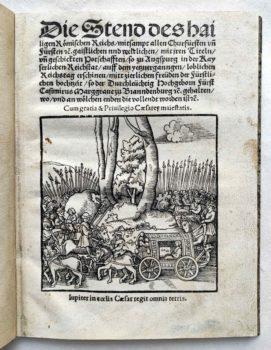 Johann Haselberg Reichstag Augsburg 1518 Fürstliche Hochzeit Festbuch Titel
