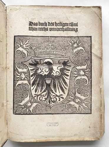 Heiliges Römisches Reich König Maximilian Verfassung ewiger Landfriede gemeiner Pfennig Postinkunabel