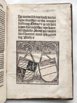 Heiliges Römisches Reich Verfassung ewiger Landfriede gemeiner Pfennig Postinkunabel Kolophon