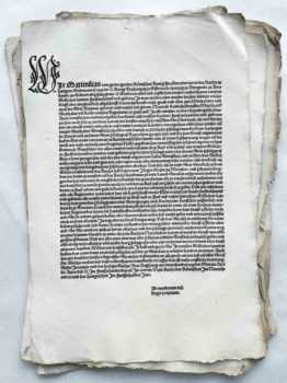 König Maximilian I. Landshuter Erbfolgekrieg 1504 Postinkunabel Einblattdruck