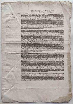 Kaiser Maximilian I. Reichstag Augsburg 1510 Postinkunabel Titel