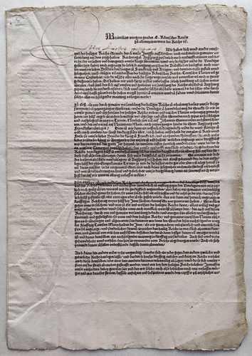 Kaiser Maximilian I. Reichstag Augsburg 1510 Postinkunabel Vorschau