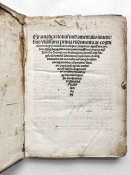 Johannes Aventinus Grammatik Schulbuch Postinkunabel Titel