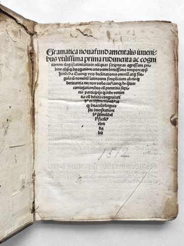 Johannes Aventinus Grammatik Schulbuch Postinkunabel