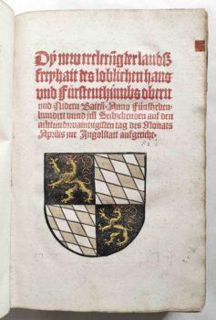 Sammelband Recht Bayern Rechtsbuch Wilhelm und Ludwig Herzöge von Bayern Landfreiheit München Schobser 1516