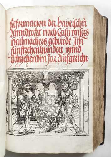 Sammelband Recht Bayern Rechtsbuch Wilhelm und Ludwig Herzöge von Bayern Reformation des bayrischen Landrechts 1518