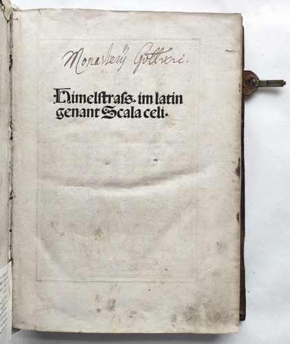 Stephan von Landskron Himelstrass Erbauungsliteratur Mittelalter Postinkunabel