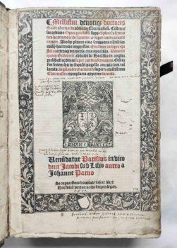 Bernhard von Clairvaux Zisterzienser Prediger Kreuzzug Mittelalter Postinkunabel 1517 Titel Metallschnitt Druckermarke