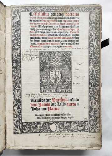 Bernhard von Clairvaux Zisterzienser Prediger Kreuzzüge Mittelalter Postinkunabel Paris 1517