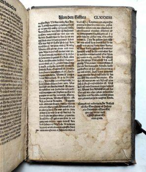 Lorenz Fries Spiegel der Arznei Medizin Anatomie Heilkunde Mittelalter Kolophon