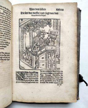 Lorenz Fries Spiegel der Arznei Medizin Anatomie Heilkunde Mittelalter Holzschnitt Lehrer Magister