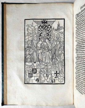 Worms Stadtrecht Mittelalter Inkunabel Postinkunabel Rechtsbuch Jura Römisches Recht Strafrecht Kriminalrecht Holzschnitt Kurfürsten
