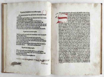Albrecht von Eyb Ehebüchlein Mittelalter Inkunabel deutsch Register und Textbeginn