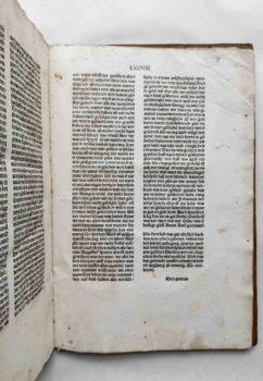 Marcus von Lindau Zehn Gebote Inkunabel deutsch Mittelalter Breidenbach Epitaph Kolophon