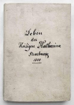 Frater Petrus Legenda sanctae catherinae Inkunabel Straßburg 1500 deutsch Einband