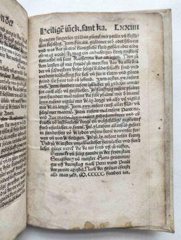 Frater Petrus legenda sanctae catharinae deutsch Holzschnitt Inkunabel Kolophon