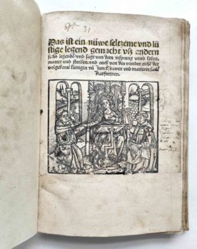Frater Petrus legenda sanctae catharinae deutsch Holzschnitt Inkunabel Titel