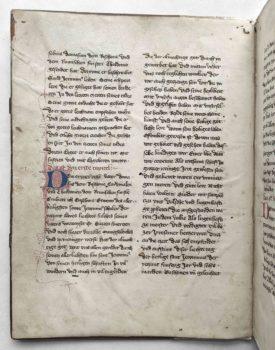 Johannes von Neumarkt Kanzler Kaiser Karl IV. Böhmen Prag Pergament Handschrift Leben des Hieronymus Textbeginn