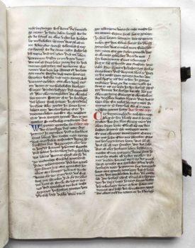 Johann von Neumarkt Kanzler Kaiser Karl IV. Böhmen Prag Leben des Hieronymus Pergament Handschrift Arbeitsexemplar Textbeispiel A