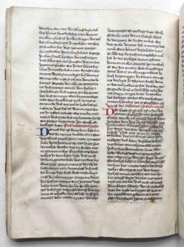 Johann von Neumarkt Kanzler Kaiser Karl IV. Böhmen Prag Leben des Hieronymus Pergament Handschrift Arbeitsexemplar Textbeispiel B