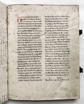 Johannes von Neumarkt Kanzler Kaiser Karl IV. Böhmen Prag Pergament Handschrift Leben des Hieronymus Vorrede